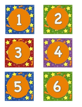 Super Hero Theme Calendar Numbers