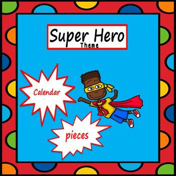 Super Hero Theme Calendar Set