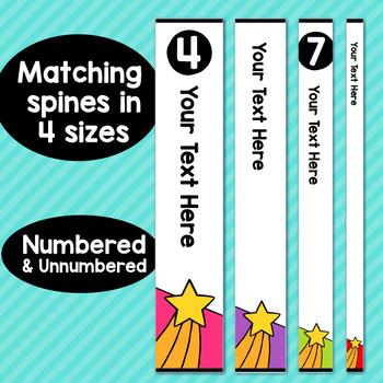 Superhero Theme Classroom Decor Editable Binder Covers {B}