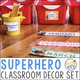 Super Hero Classroom Decor Pack