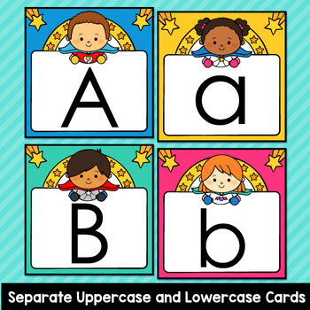 Superhero Theme Classroom Decor Word Wall ABC Flashcards