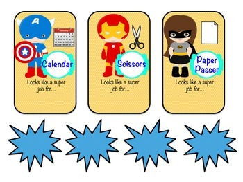 Super Hero Theme Classroom Jobs