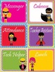 Super Hero Theme Classroom Jobs - EDITABLE