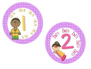 Classroom Numbers 1-10 Super Hero Theme