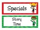Superhero Theme Daily Schedule Cards