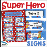 Super Hero Theme Decor Extra Classroom Signs Posters