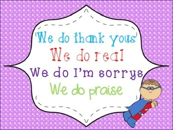 """""""In Our Classroom We Do"""" ... Poster Super Hero Theme"""
