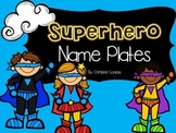 Superhero Theme Name Plates