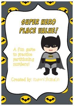 Super Hero Theme Place Value