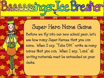 Super Hero Theme Editable PowerPoint