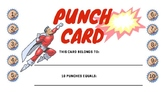 Super Hero Theme Punch Cards - Behavior Management Tool