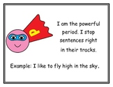 Super Hero Theme Punctuation Posters