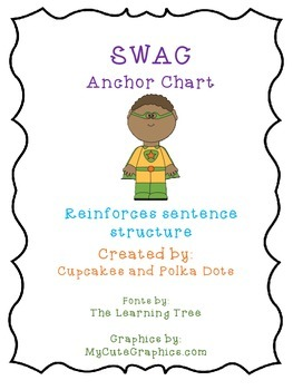 Super Hero Theme SWAG poster _Sentence structure