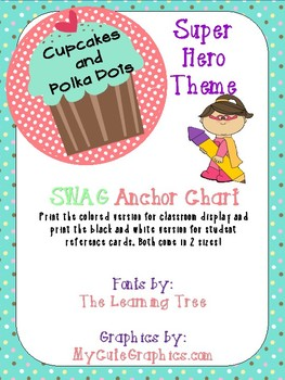 Super Hero Theme SWAG_ Sentence Writing Poster