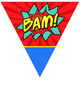 Super Hero Theme Stringer Pennants