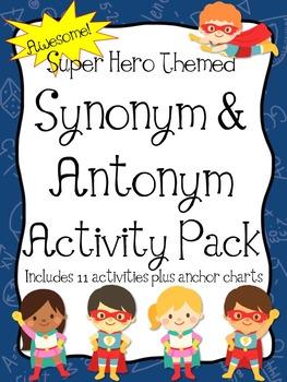 Super Hero Theme Synonym & Antonym Super Unit