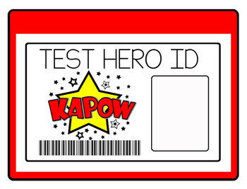 Super Hero Theme Test Prep and Motivational Materials