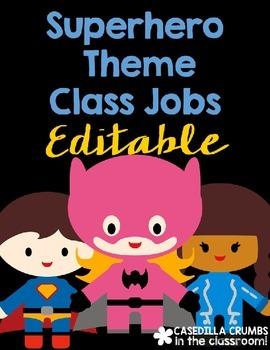 Super Hero Theme Themed Class Jobs Decor