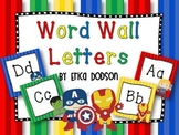 Super Hero Themed Alphabet Word Wall Letters {Bright Prima