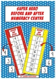 Super Hero Themed Before and After Number Centre