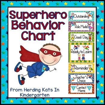 Super Hero Themed Behavior Clip Chart