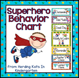 Superhero Classroom Theme Behavior Clip Chart