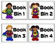 Super Hero Themed Book Bin Labels