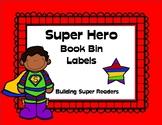Super Hero Themed Book Bin Labels