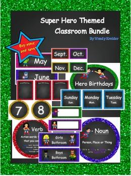 Super Hero Themed Classroom Bundle