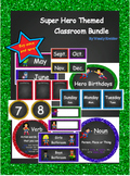 Super Hero Themed Classroom Bundle