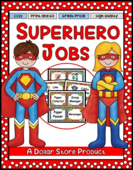Superhero Themed Classroom Jobs - EDITABLE