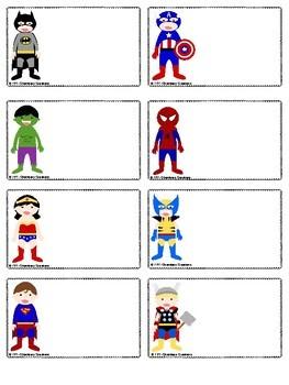 Super Hero Themed Classroom Labels!