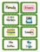 Super Hero Themed Classroom Supply Tags