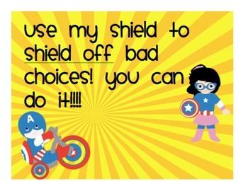 Super Hero Themed Clip Chart
