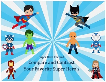 Super Hero Themed Compare and Contrast
