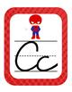 Super Hero Themed ABC Cursive Printable