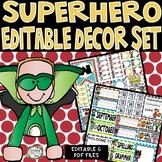 Superhero Classroom Decor, Superhero Theme Decor, Classroom Decor