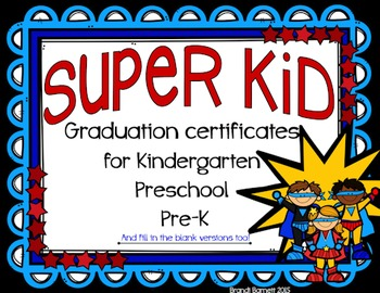 Graduation Certificates Super Hero Theme