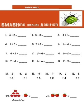 Super Hero Themed Math Bundle