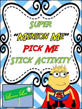 Super Hero Themed Pick Me Sticks