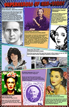 Super Hero Themed Poster - Superheroes of Herstory