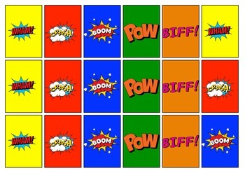 Super Hero Themed Sight Word Game