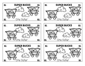 "Super Hero Themed ""Super Bucks:"