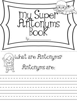 Super Hero Themed Synonym & Antonym Student Books