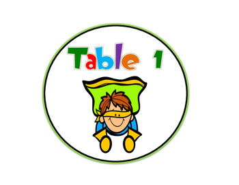 Super Hero Themed Table Signs