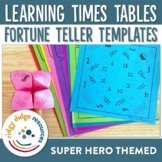 Super Hero Themed Times Tables Cootie Catchers or Fortune Tellers