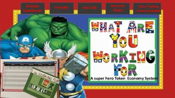 Behavior Intervention: SuperHero Themed Token Economy with Data Tracking Tool