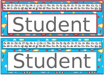 Super Hero Themed editable nameplates with alpha strips