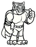 Super Hero Tiger Mascot