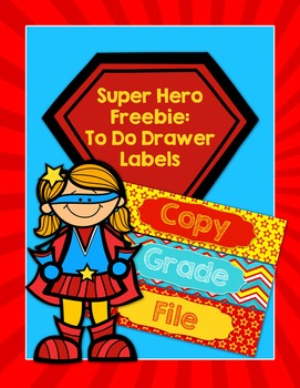 Super Hero To Do Drawer Freebie